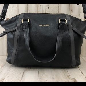 Cole Haan Black Pebble Leather Satchel B45991